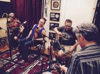 Recording session at Cove Island Studios, Philadelphia. Photo by Tom O'Malley